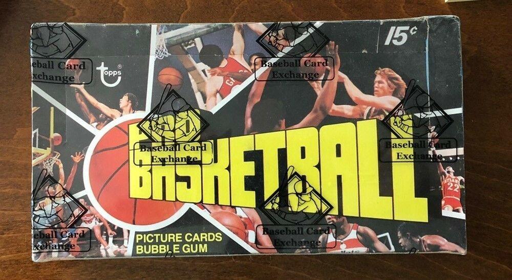 1976 77 topps basketball wax pack box unopened bbce