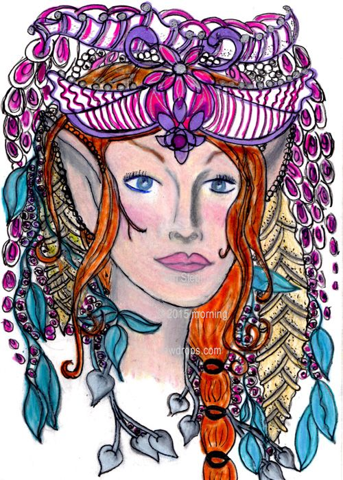Doodle, Zentangle - Princess TaLese - Morning Dew Drops http://morningdewdrops.typepad.com/my-blog/2015/01/doodle-zantangle-princess-talese.html