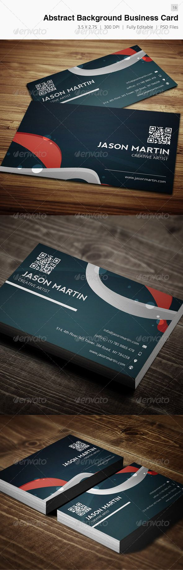 abstract background creative business card  16