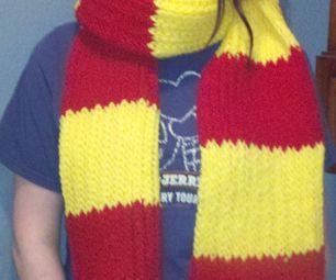 36 Peg Loom Knitting Patterns : Loom Knit Gryffindor Scarf Loom, Loom knit and Yarns