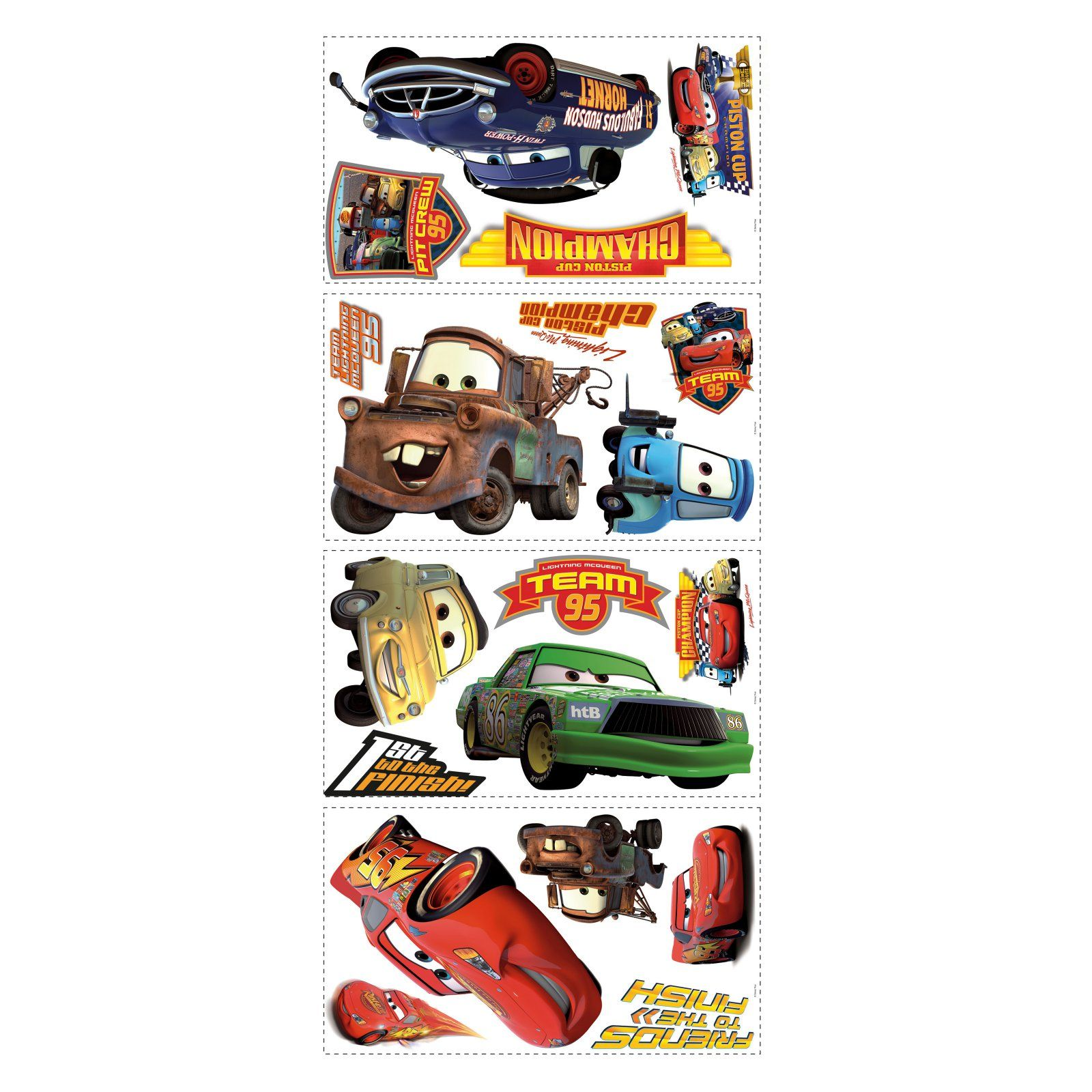 Cars Piston Cup Champs Peel And Stick Wall Decals In 2021 Disney Cars Disney Pixar Cars Pixar Cars [ 1600 x 1600 Pixel ]