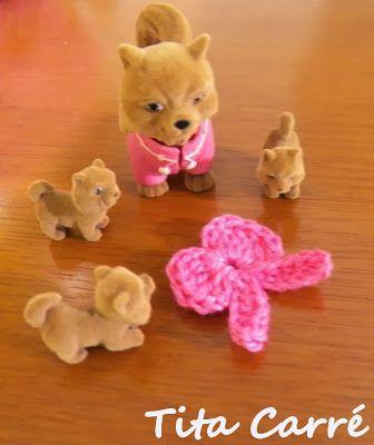 'Tita Carre' Tita Carré - Agulha e Tricot : A Fita rosa em crochet e os cachorrinhos