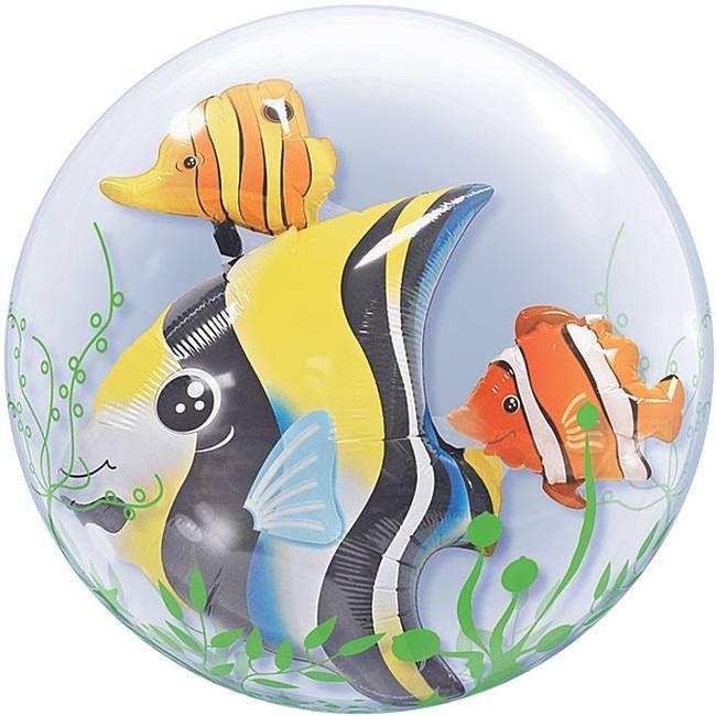 Tropical Fish Double Bubble Balloon