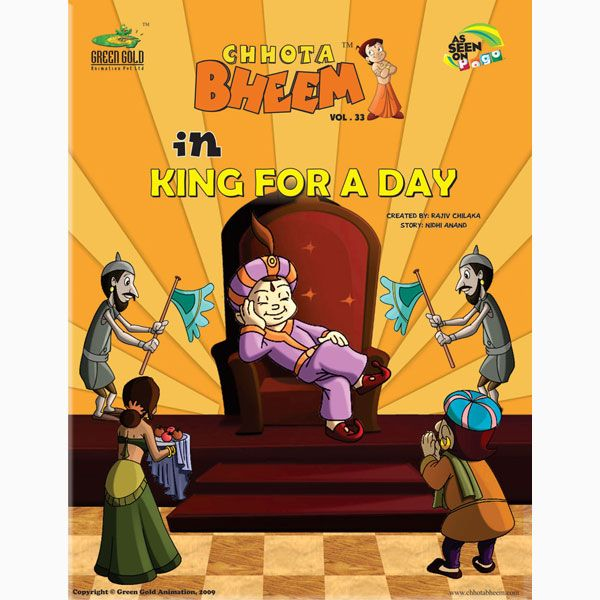 Chhota Bheem in King For A Day The King of Dholakpur, Raja - best of chhota bheem coloring pages games
