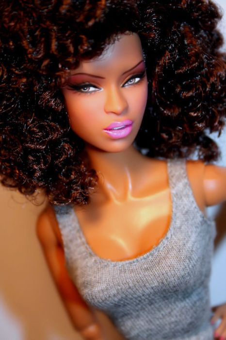Black Barbie Pretty She Is Really Cute Wow Is It Crazy That I M Jealous Natural Hair Doll Black Barbie Natural Hair Styles