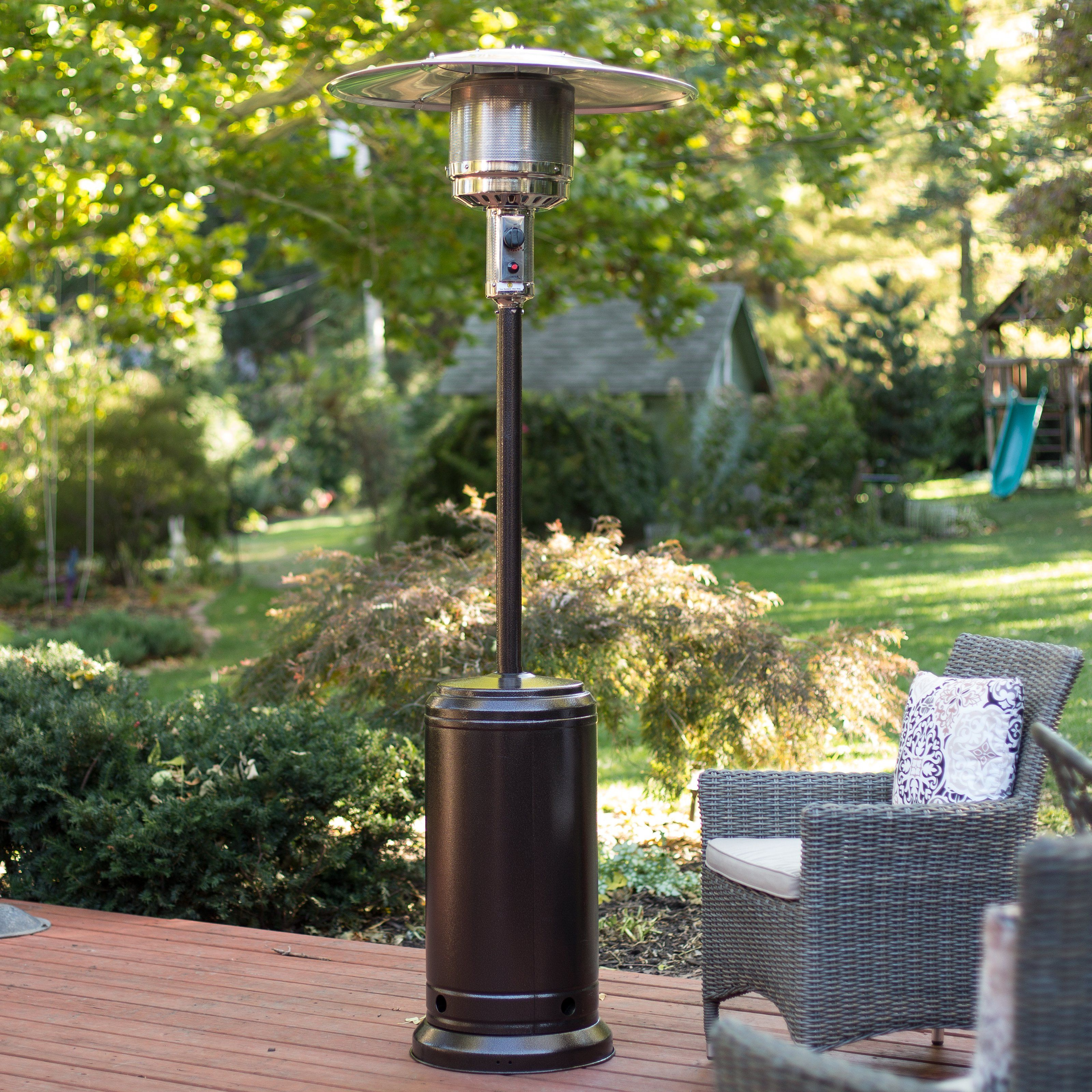 Captivating Fire Sense Hammered Bronze Patio Heater   Smart Spaces Heat Up With The  Fire Sense Hammered Bronze Patio Heater. Featuring A Wheeled Design For  Easy ...