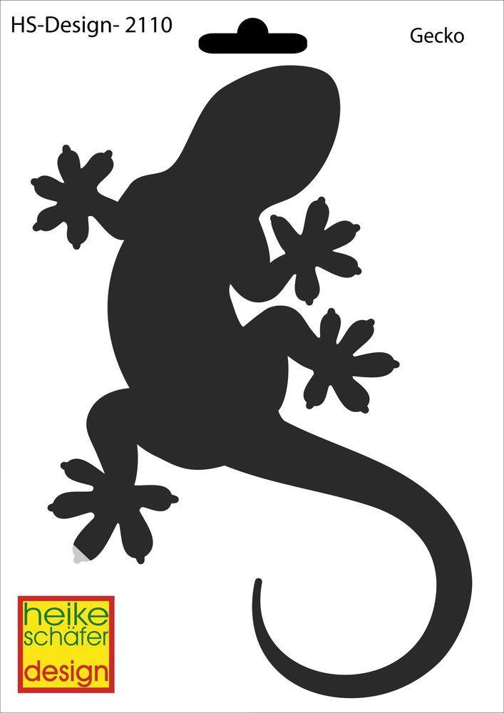 Schablone A5 Art Nr 2110 Gecko Heike Schafer Kleurplaten Doodles Silhouet
