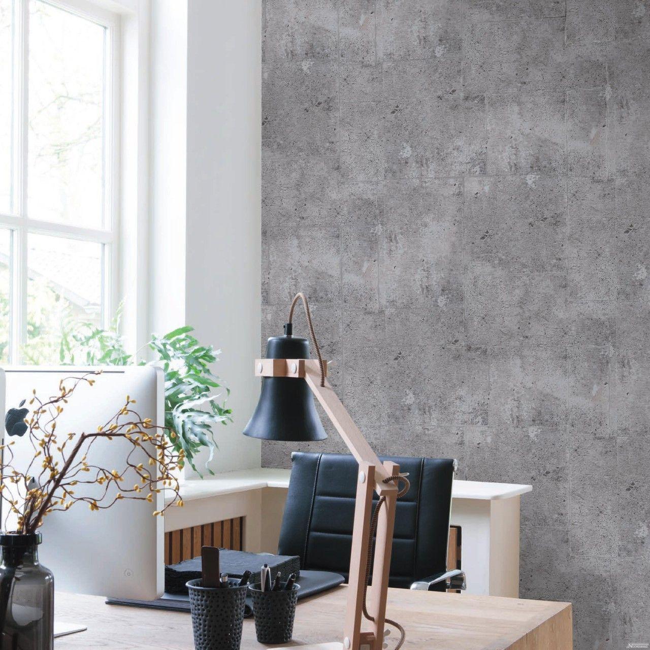Vliestapete Beton Steinwand Grau In 2020