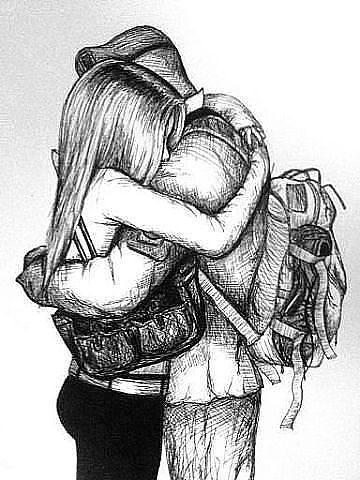 Grafika Love Couple And Hug Love Dessin Amour A Dessin Couple