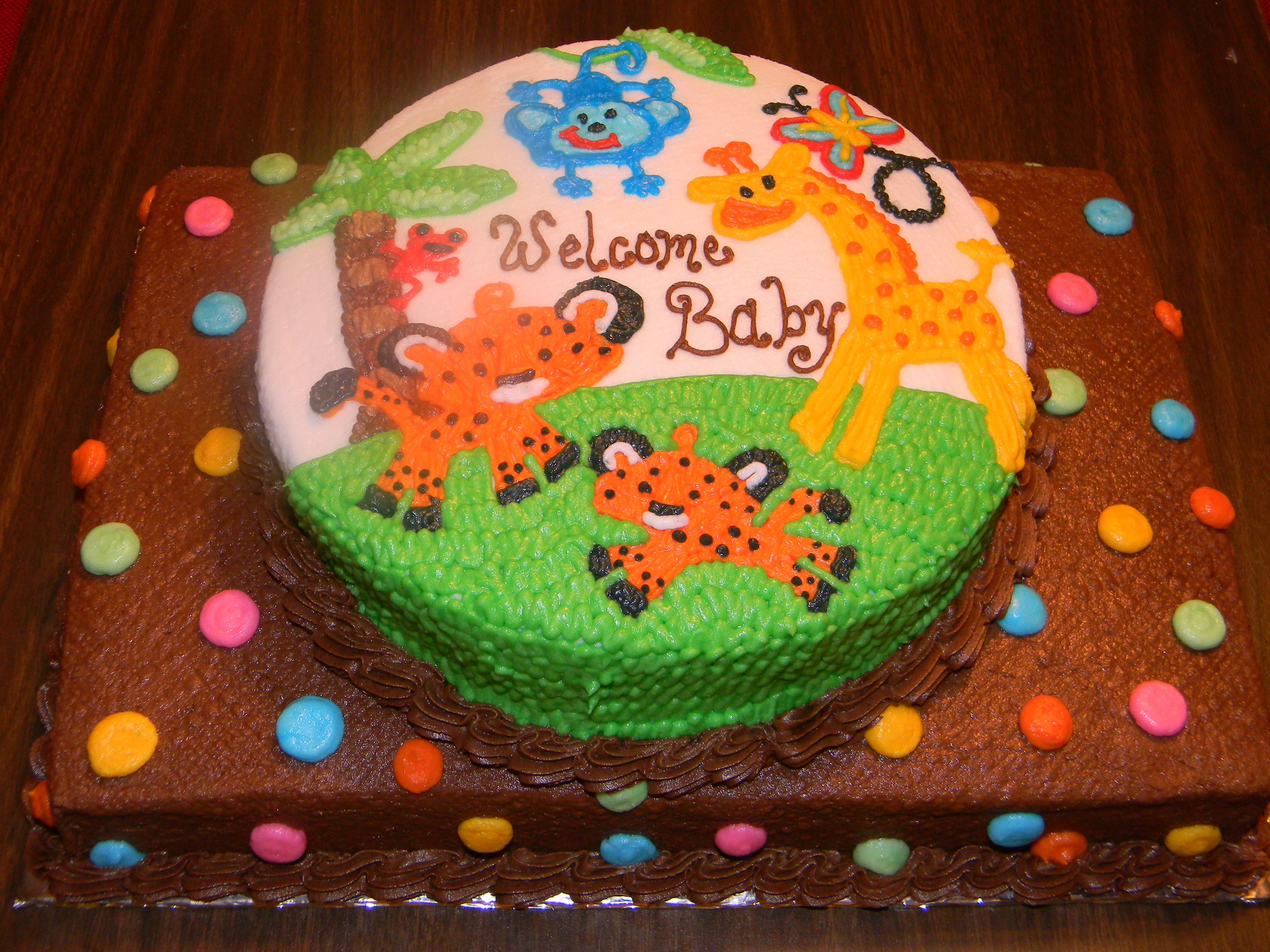 Fisher Price Rainforest Cake Baby Shower