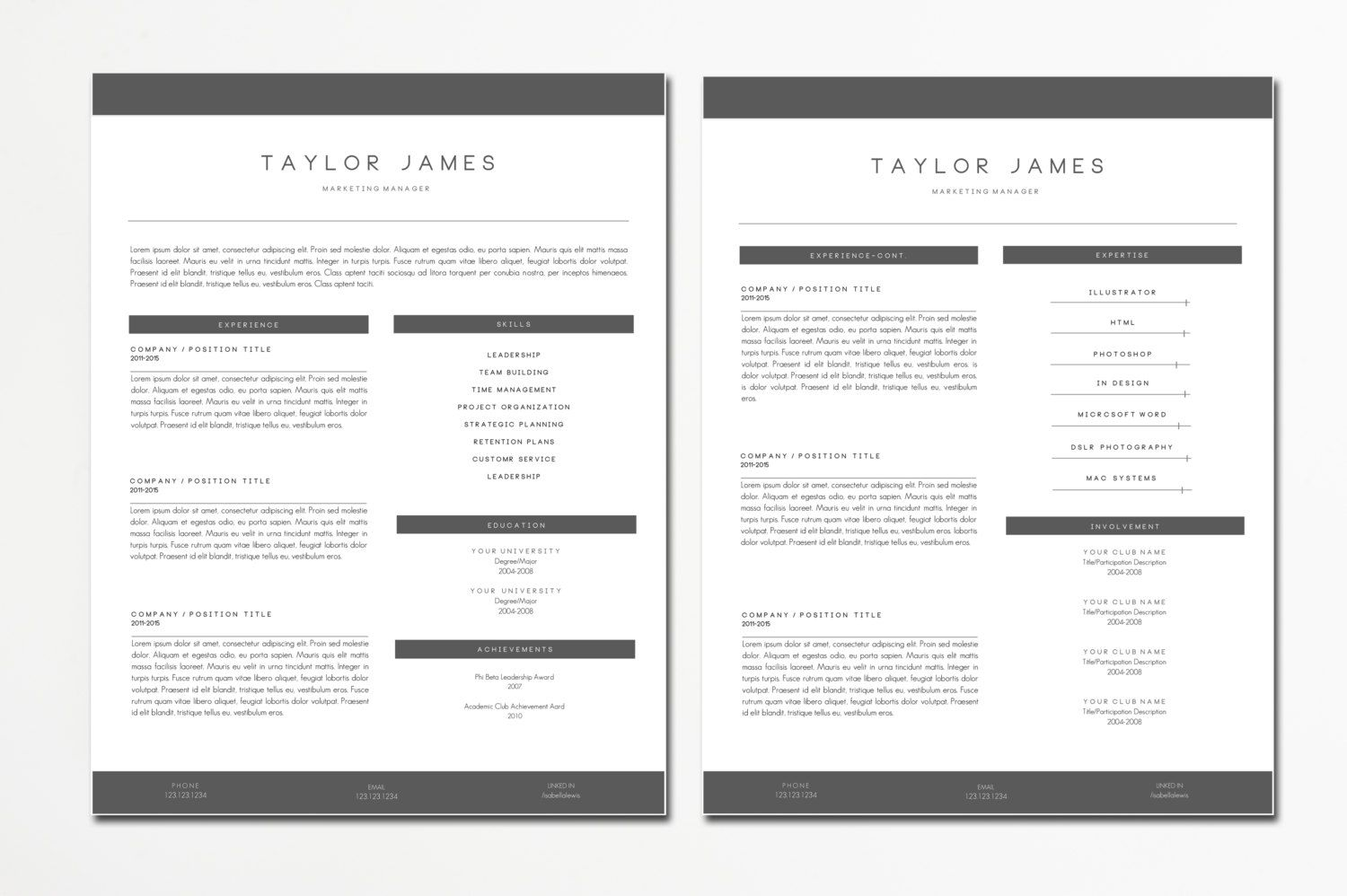 Resume Templates And Cv Templates For Microsoft Word Hello