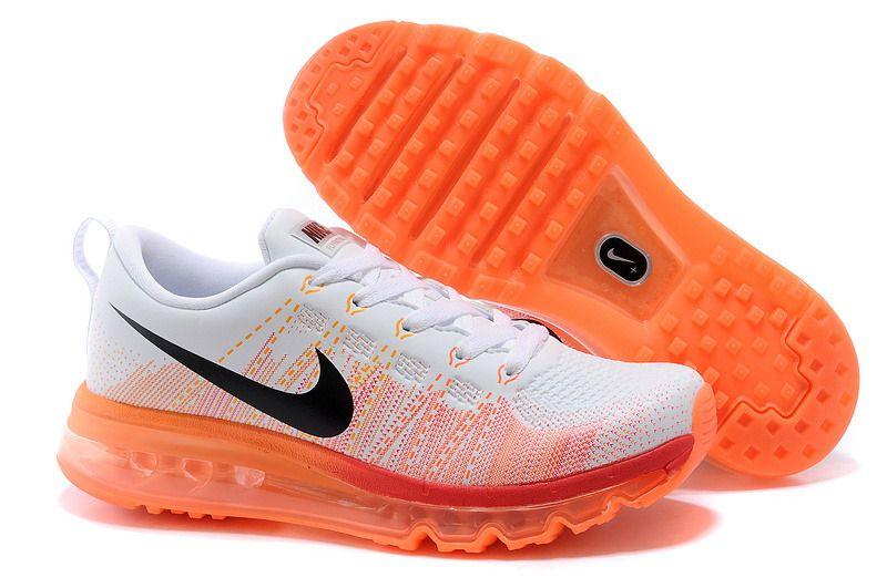 Frauen Nike Flyknit Air Max 2014 Orange Weiss | kix | Nike
