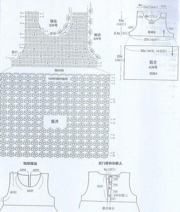 Materiales gráficos Gaby: Vestidos de niñas | Baby Crochet ...
