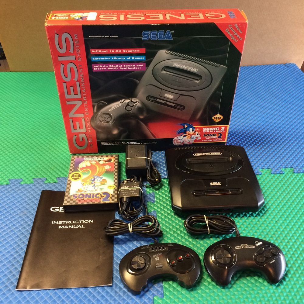 WORKS PERFECTLY SEGA GENESIS MODEL 2 SYSTEM CONSOLE BUNDLE COMPLETE SONIC 2  GAME #SEGA