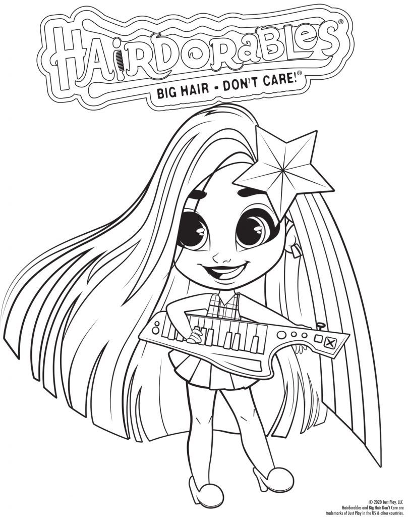 Hairdorables Each Doll Package Is A Surprise Just Pull Peel And Reveal 11 Accessories And Fashio Unicorn Coloring Pages Cute Coloring Pages Coloring Pages