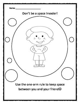 Personal Space Camp Boy Space Invader Coloring Sheet Social