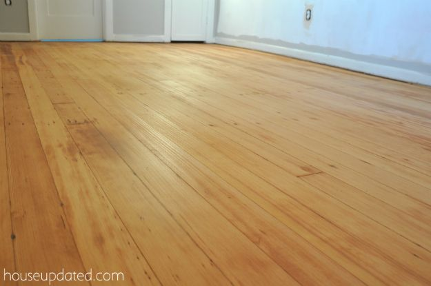Our Really Yucky Black Tar Like Floors In The Guest Bedroom Are Gone Leaving Original Fir Shining All Their Rustic Glory