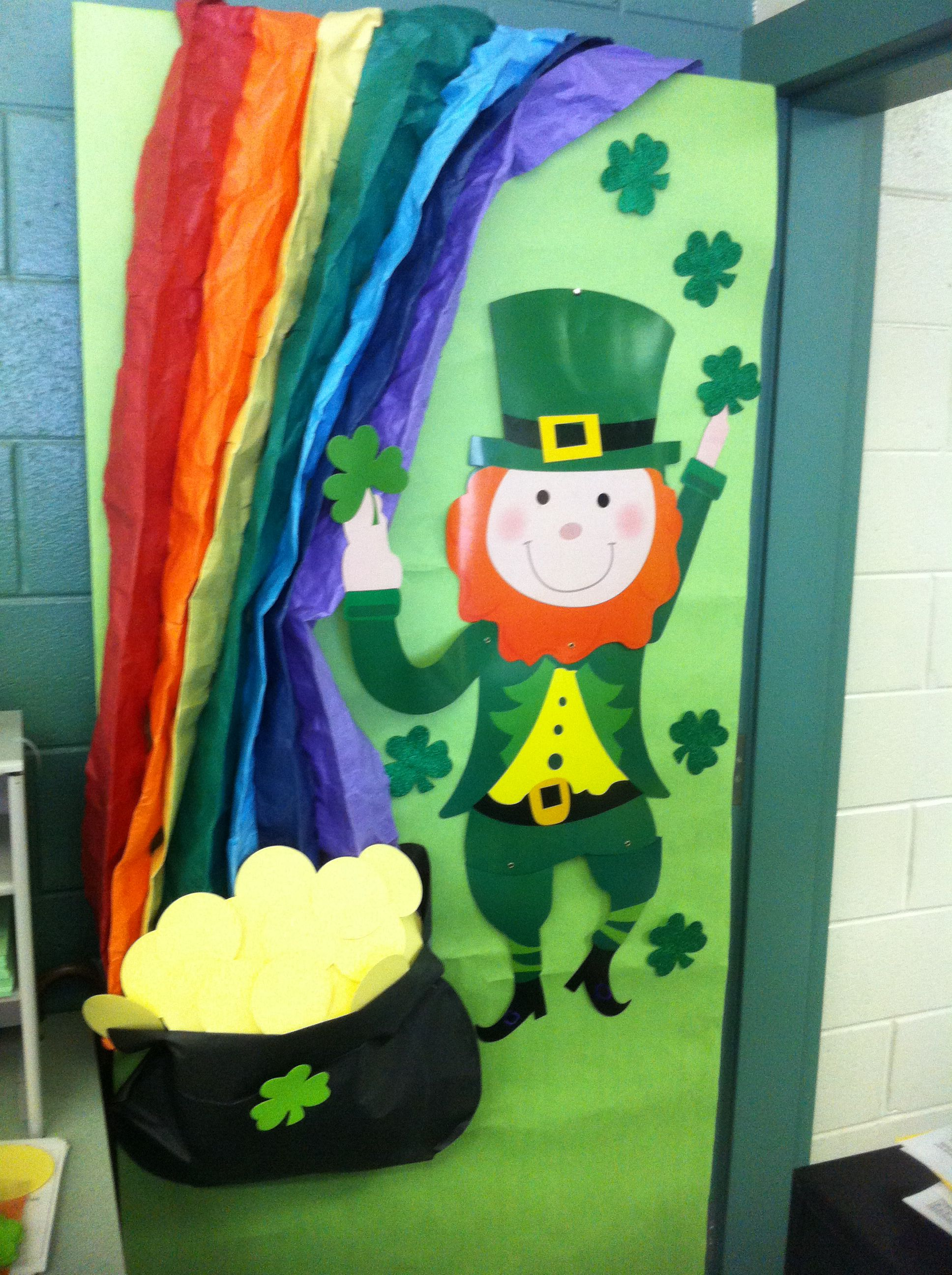 St Patrick Day Door Decoration Door Decorations Classroom Door