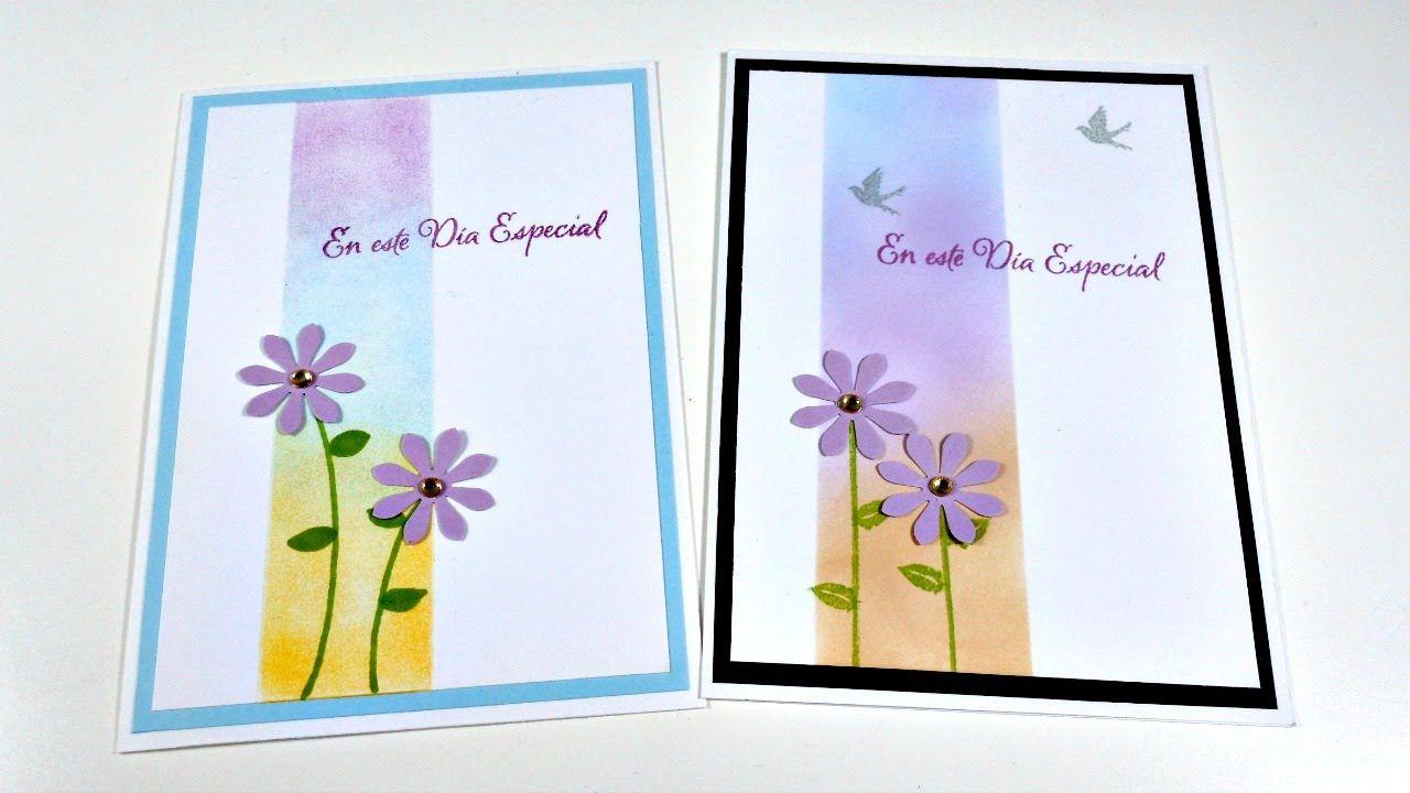 Tarjeta Día de la Madre MUY FÁCIL usando lápices de colores | Cardmaking