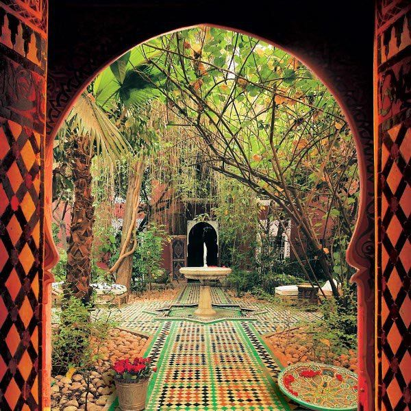 The amazingly beautiful riads of morocco riad comes from for Moroccan wallpaper uk