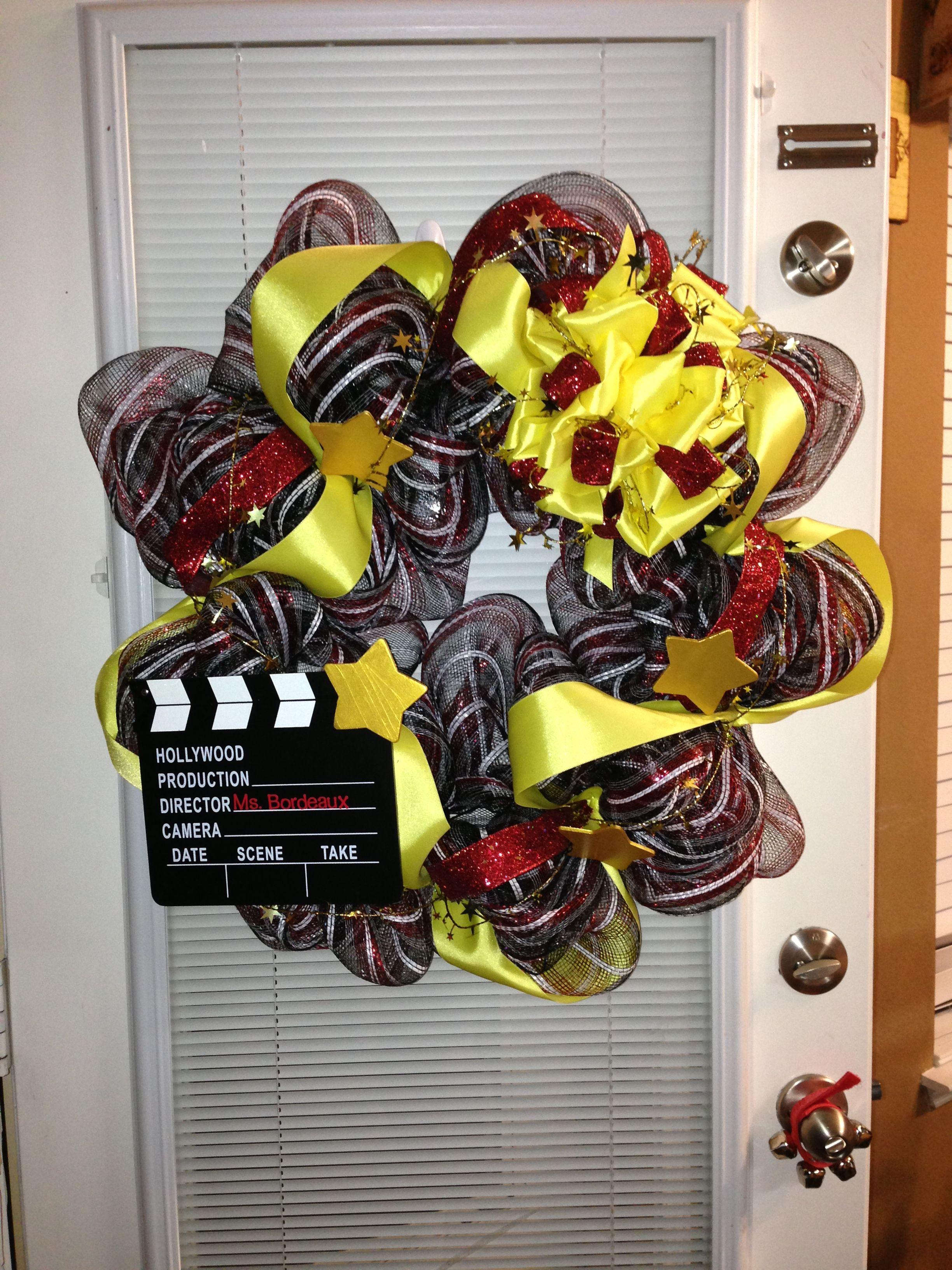 Hollywood Themed Wreath For My Student Teachers Classroom I Found