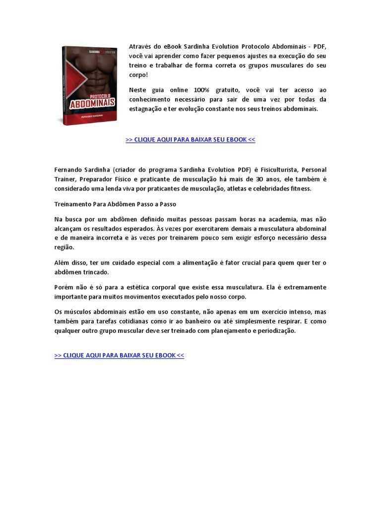 Curso Sardinha evolution download grátis e completo da