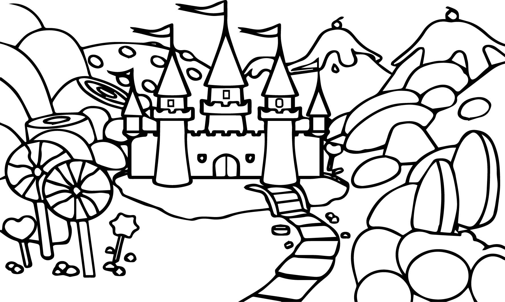 Free Coloring Pages Of Candyland Castle With Images