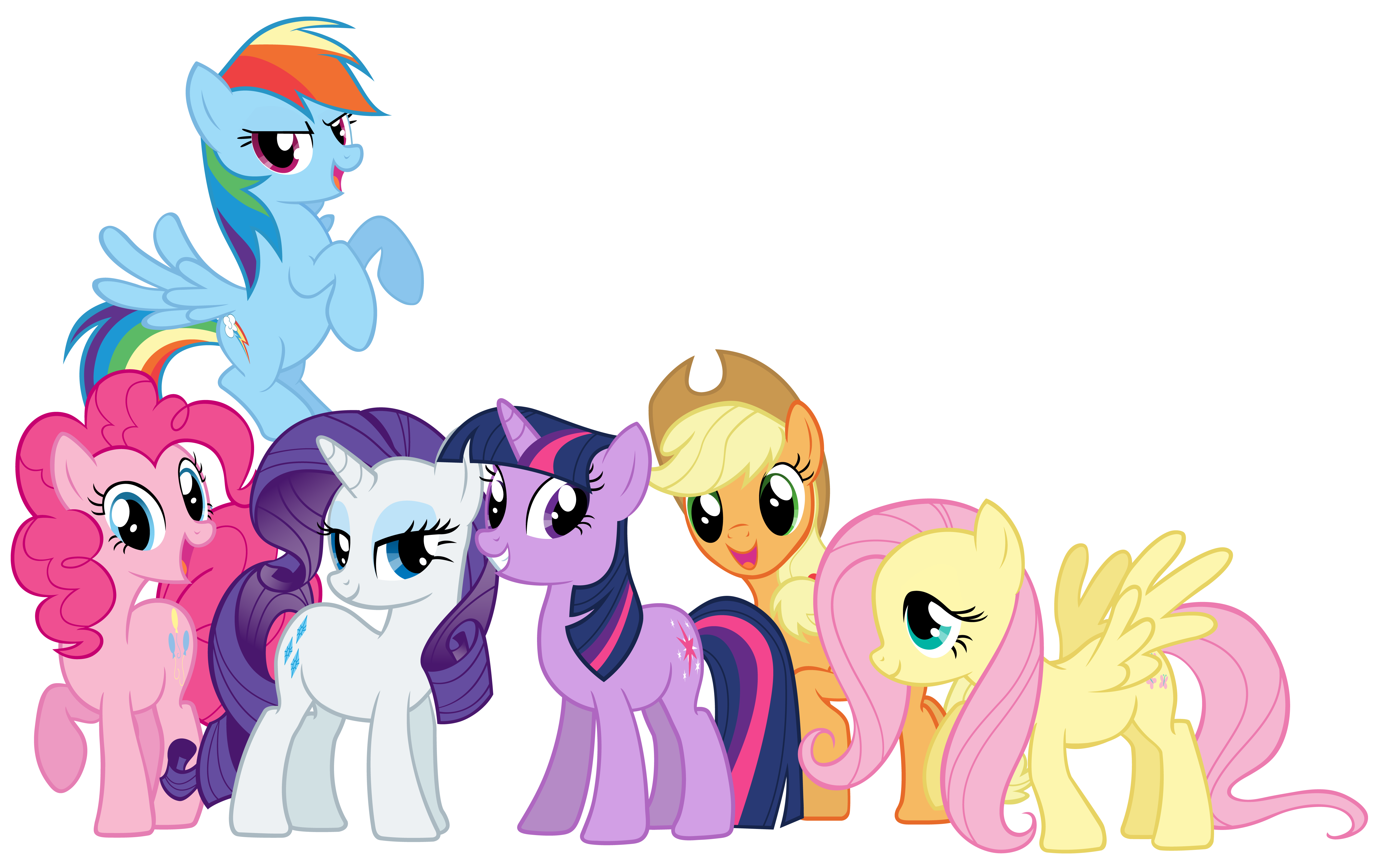 Mane 6 and Spike - Rainbowfied Group Photo by CaliAzian on DeviantArt