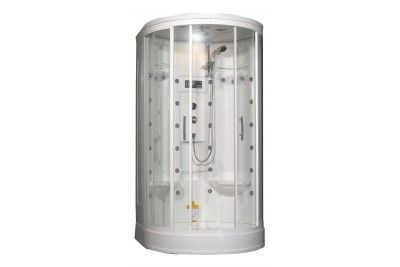 Aston Global Za209 Acrylic Steam Shower With 30 Body Jets In White