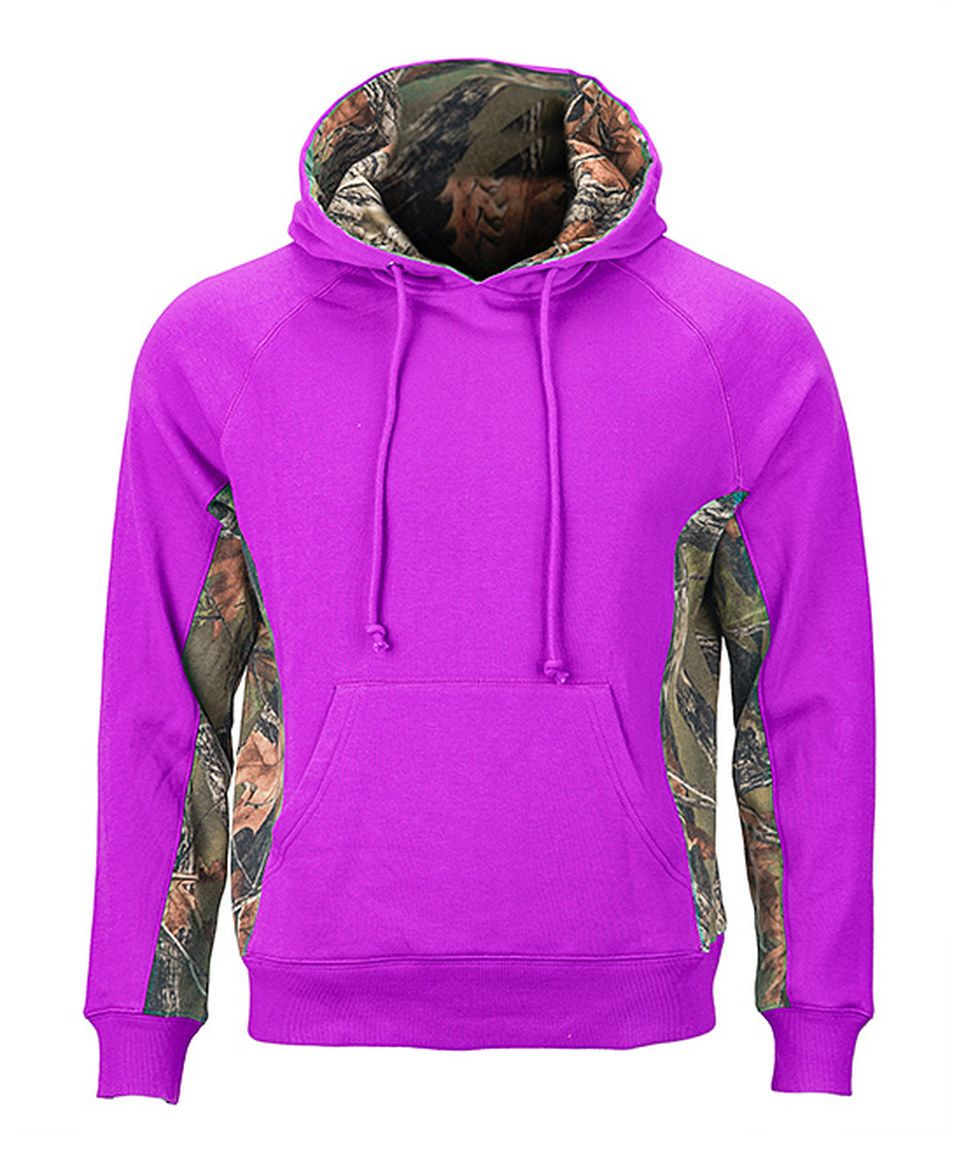 This Trail Crest Neon Purple & Camouflage Cambrillo Hoodie by Trail Crest is perfect! #zulilyfinds