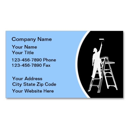 Painter business cards business cards business and logos painter business cards colourmoves