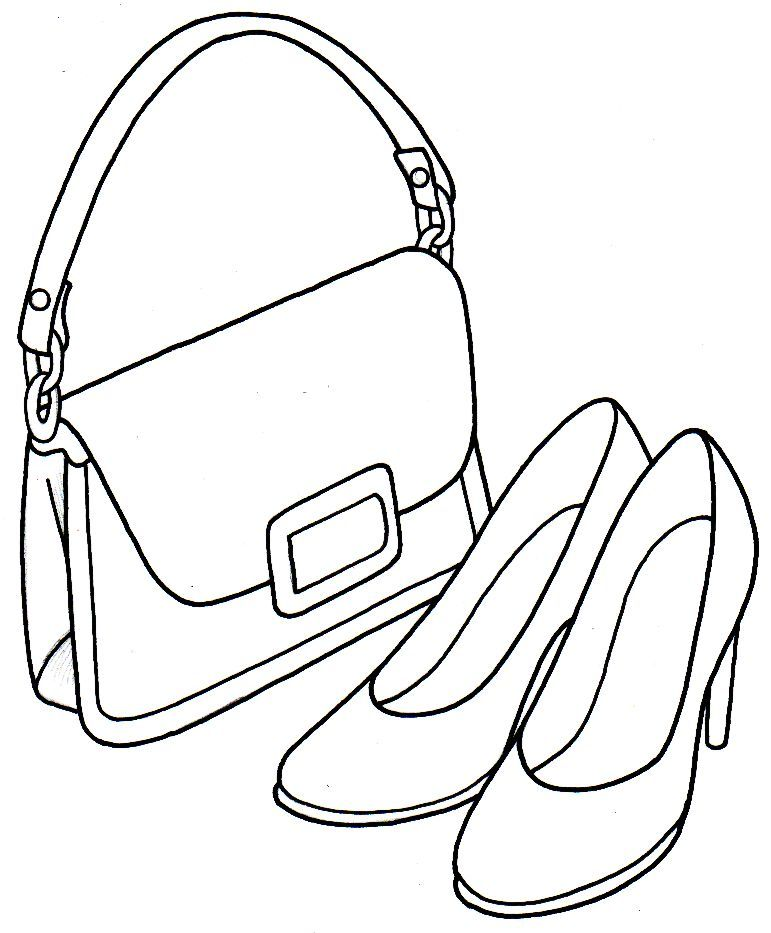 coloring pages of purses - photo#18