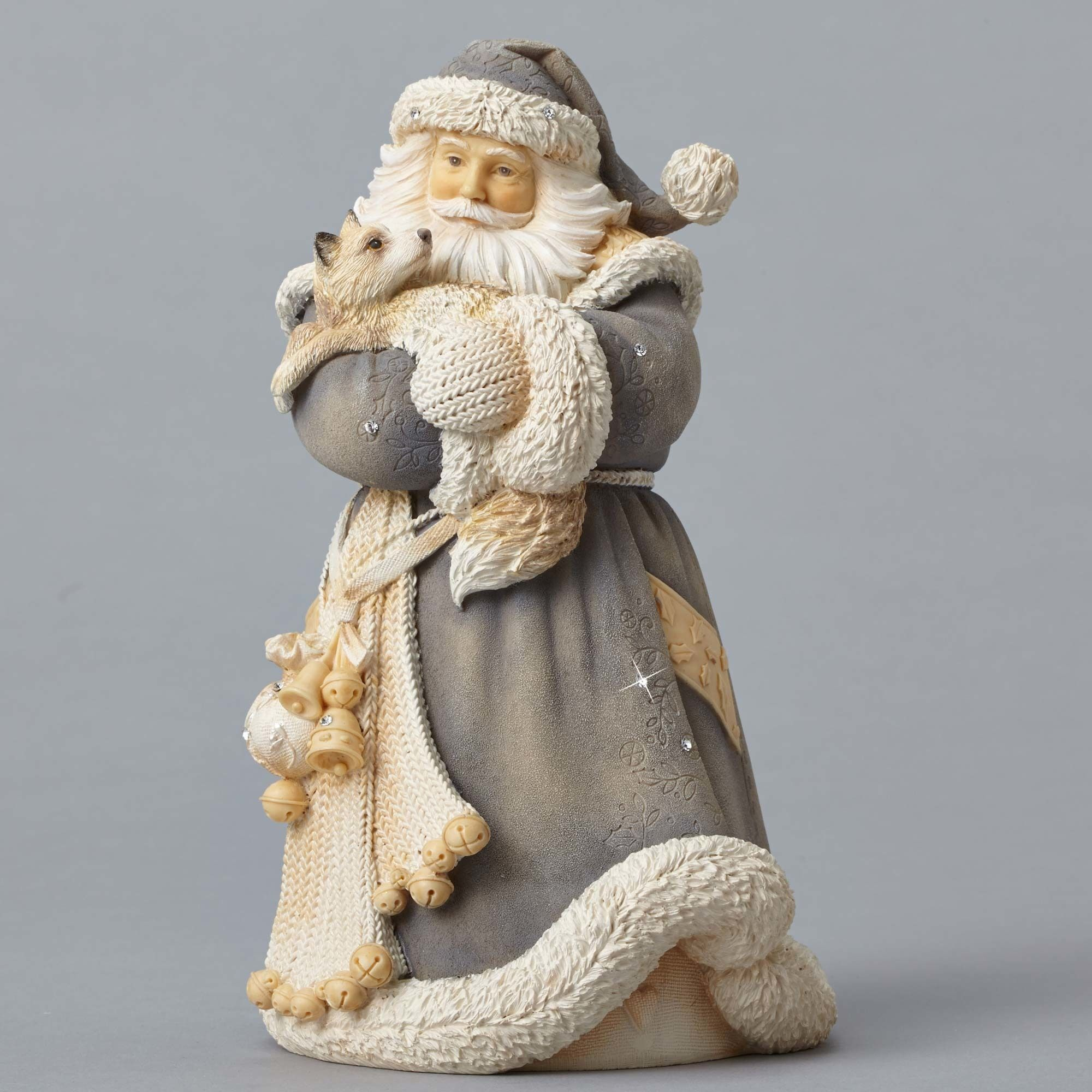 Enesco Foundations Santa with Fox Figurine  In  Foundation