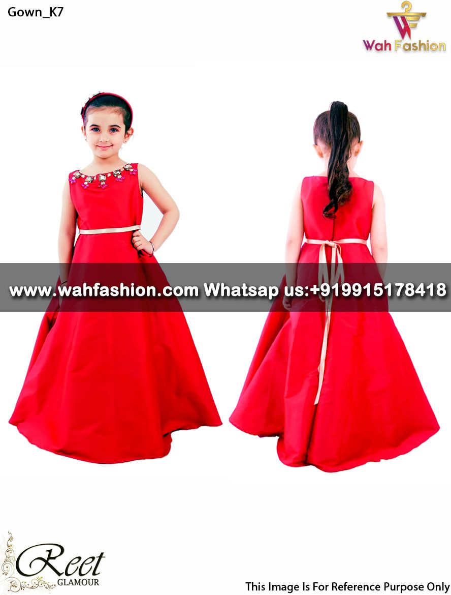Exquisite Hot Red Designer Kids Gown Buy Link : https://goo.gl/vKdbXq Product Code : Gown_K7 For more details whatsapp us: +919915178418 We can design this Gown in any color combination or on any fabric (price may vary according to fabric) #gown,#designergown,#stylishgown,#embroideredgown,#partyweargown,#kidsgown,#kids,#kidscollection
