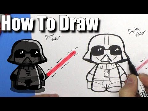 1 How To Draw Cute Darth Vader Easy Chibi Step By Step