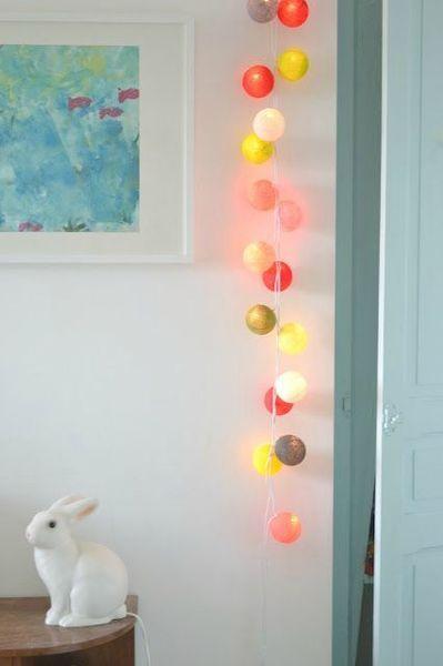 Guirlande lumineuse Boules Multicolore