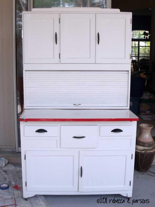Ghosts Of Furniture Past Update   DIY Hoosier Cabinet Restoration
