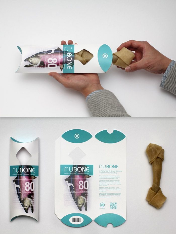 NuBone is a series of nutritional supplements package for dogs that improves user experience and visual communication between users and product.