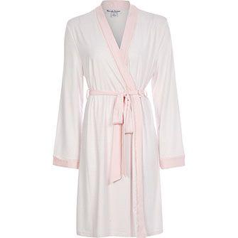 3182f4a1d83a Alexandra Bartlett Pink & White Dressing Gown | Nightwear | Gowns ...