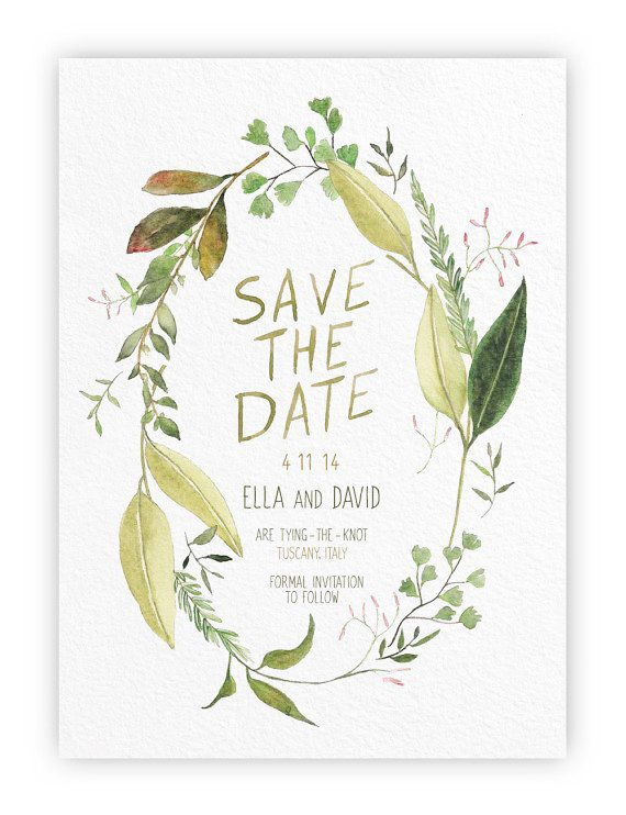 Tuscan Wreath Save the Date by Alfie Design