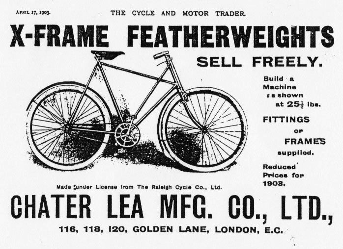 Chater Lea bicycle advert.