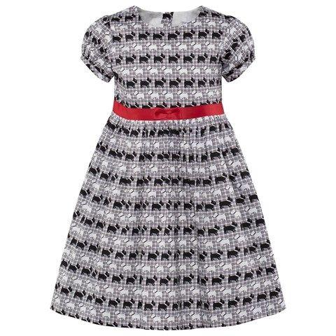 Rachel Riley Black and Ivory Scotty Dog Dress
