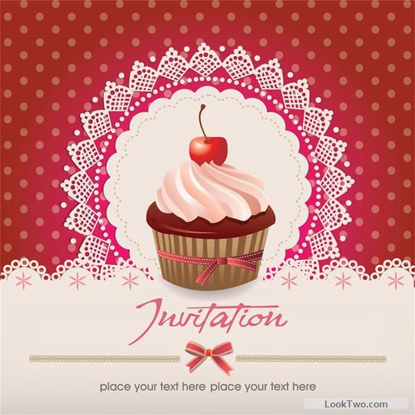 Cute cupcakes vector invitation cards 03 free vector download cute cupcakes vector invitation cards 03 free vector download stopboris Images