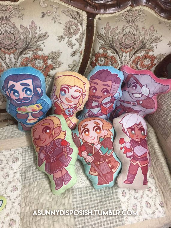 Dragon Age Plush Pillows by asunnydisposish on Etsy
