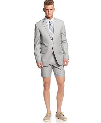 Bar III Carnaby Collection Light Grey Mini-Cord Suit Separates Slim ... 5572e032cb