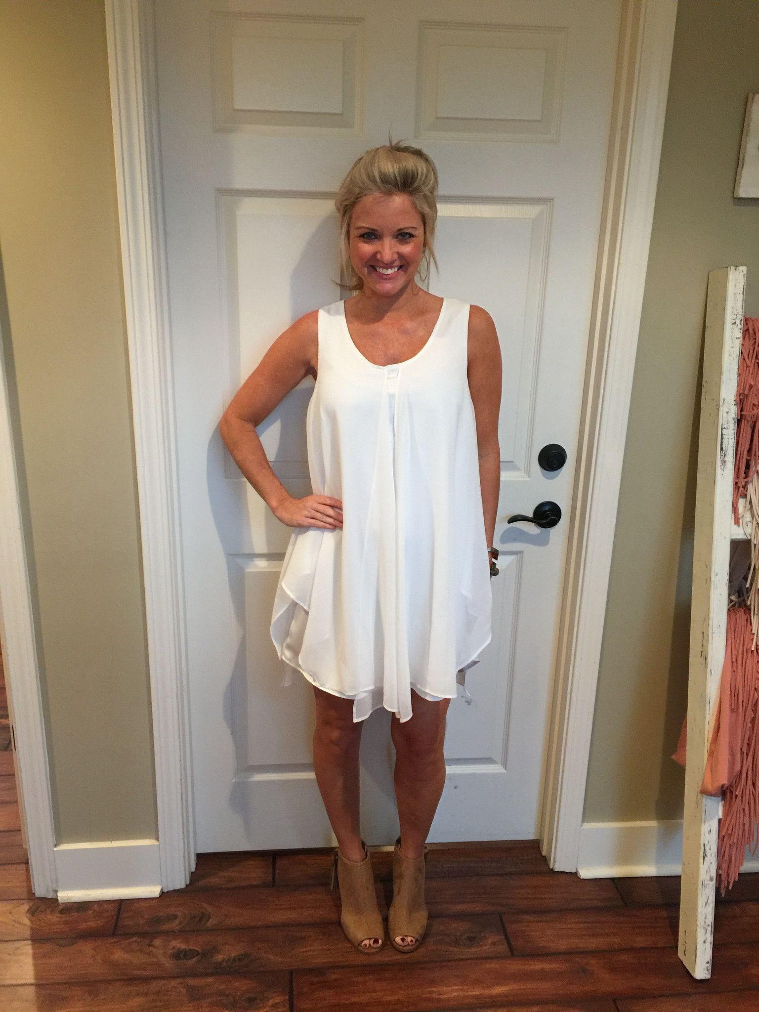 Keep It Classic Dress, White, Swing Dress, Beautiful Soul