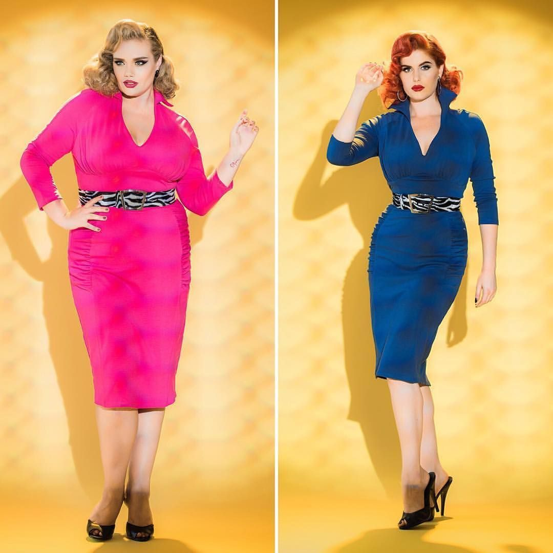 And tailor the hot pink one above the knee! Glam! See this Instagram photo by @pinupgirlclothing • 1,823 likes
