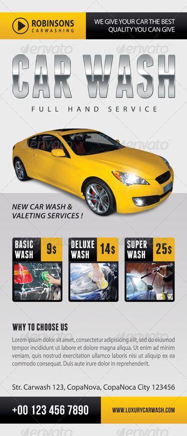 3 in 1 Car Wash Rollup Banner Bundle 01 #Ad #Rollup, #affiliate, #Wash, #Car, #B...