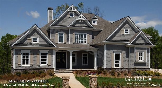 garrell associates inc tres maison b house plan 01049traditional style house - Traditional House Plans