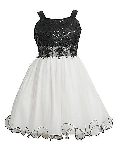 3917b585b Kids' | Dresses | Tweens 7-16 Black & White Sequin Tulle Dress | Lord and  Taylor